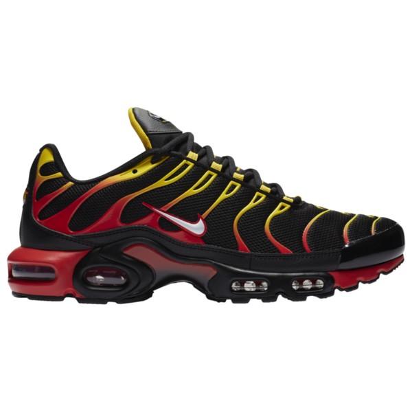 ナイキ メンズ ランニング スポーツ Air Max Plus Black/White/Chile Red/Speed Yellow