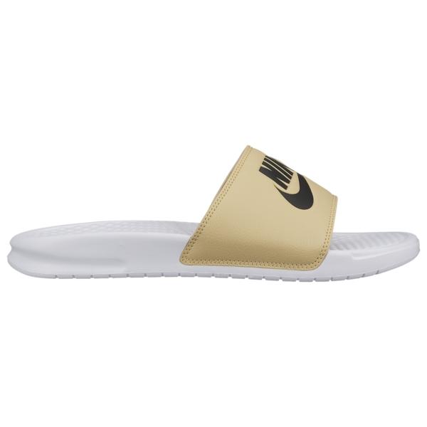 ナイキ メンズ サンダル シューズ Benassi JDI Slide White/Black/Team Gold