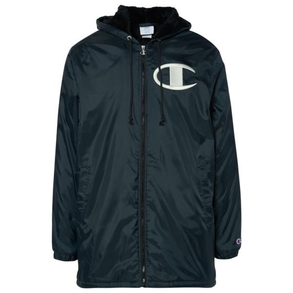 チャンピオン メンズ ジャケット&ブルゾン アウター Sherpa Lined Stadium Jacket Black