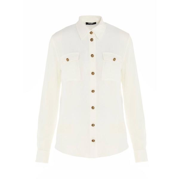 【限定製作】 バルマン レディース カットソー トップス Balmain Button-Detailed Shirt -, さかつう a18304c8