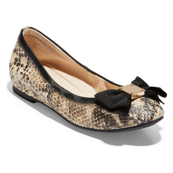 コールハーン レディース サンダル シューズ Cole Haan Tali Ballet Flat (Women) Roccia Snake Print Leather