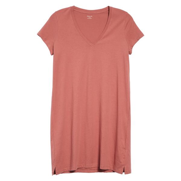 メイドウェル レディース ワンピース トップス Madewell Northside V-Neck T-Shirt Dress (Regular & Plus Size) Vintage Quartz