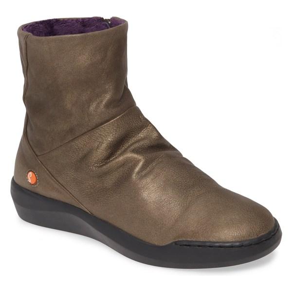 ソフチノス レディース ブーツ&レインブーツ シューズ Softinos by Fly London Bler Bootie (Women) Grey Leather