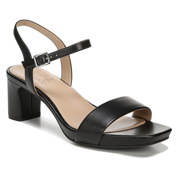 ナチュライザー レディース サンダル シューズ Naturalizer Ivy Quarter Strap Sandal (Women) Black Leather