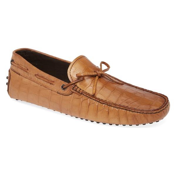 トッズ メンズ スリッポン・ローファー シューズ Tod's Gommini Driving Shoe (Men) Light Brown