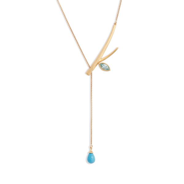 ディーンダビットソン レディース ネックレス・チョーカー・ペンダントトップ アクセサリー Dean Davidson Sakura Stone Lariat Y-Necklace Gold/Blue Topaz/Turquoise