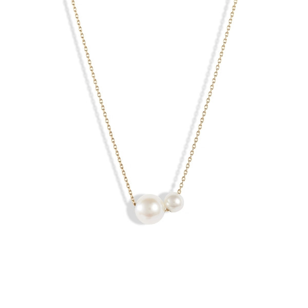 ポッピーフィンチ レディース ネックレス・チョーカー・ペンダントトップ アクセサリー Poppy Finch Double Pearl Necklace Yellow Gold/ Pearl