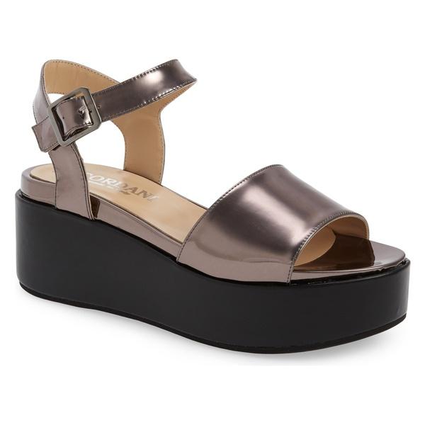 コルダーニ レディース サンダル シューズ Cordani Karrie Platform Sandal (Women) Pewter Mirror Leather