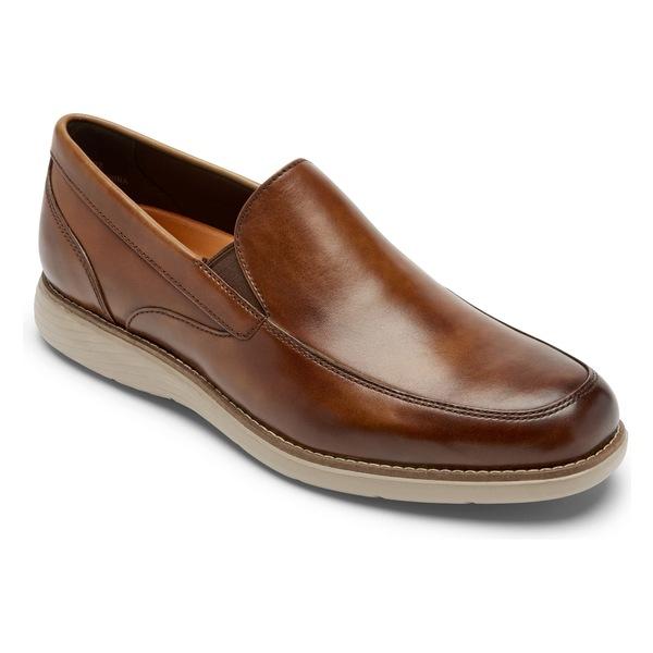 ロックポート メンズ スリッポン・ローファー シューズ Rockport Garett Venetian Loafer (Men) Cognac Gradient