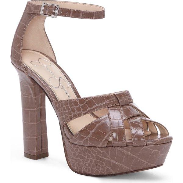 ジェシカシンプソン レディース サンダル シューズ Jessica Simpson Mishka Platform Sandal (Women) Taupe Faux Leather