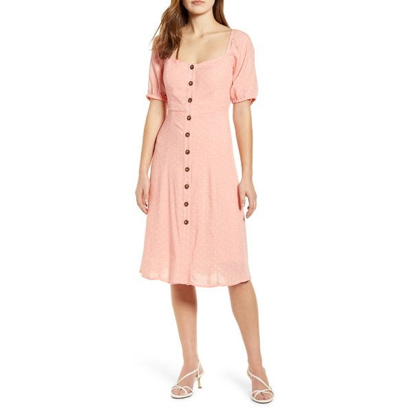 ギブソン レディース ワンピース トップス Gibson x International Women's Day Musings of a Curvy Lady Sweetheart Dress (Regular & Petite) Rose Dawn/ White Dot