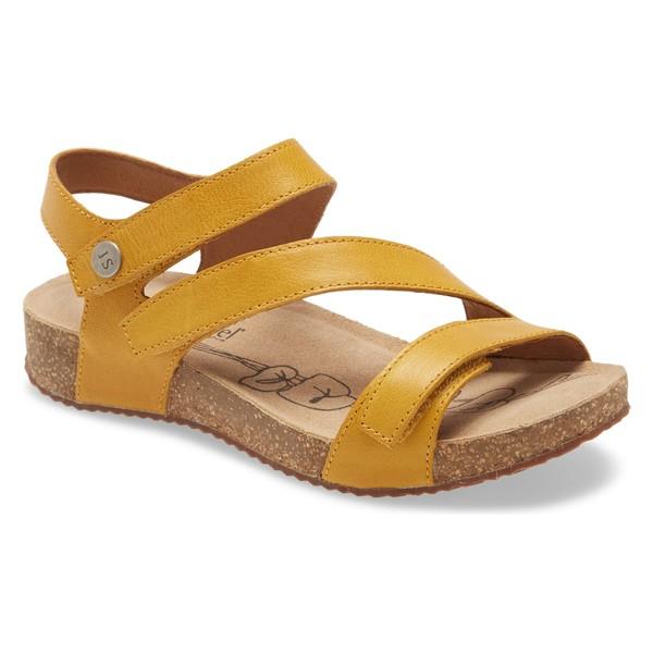 ジョセフセイベル レディース サンダル シューズ Josef Seibel 'Tonga' Leather Sandal (Women) Yellow Leather