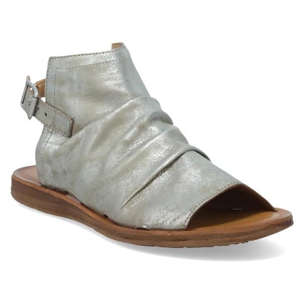 ミズムーズ レディース サンダル シューズ Miz Mooz Fallon Sandal (Women) Khaki Metallic Leather