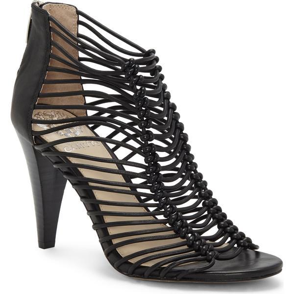ヴィンスカムート レディース サンダル シューズ Vince Camuto Alsandra Strappy Cage Sandal (Women) Black Leather