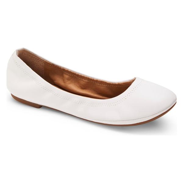 ラッキーブランド レディース サンダル シューズ Lucky Brand 'Emmie' Flat White Leather