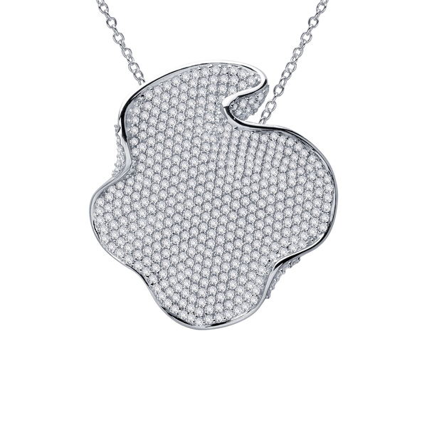 Diamond Silver Disc ネックレス・チョーカー・ペンダントトップ レディース Sterling Necklace Platinum Simulated ラフォン Pendant Plated WHITE アクセサリー