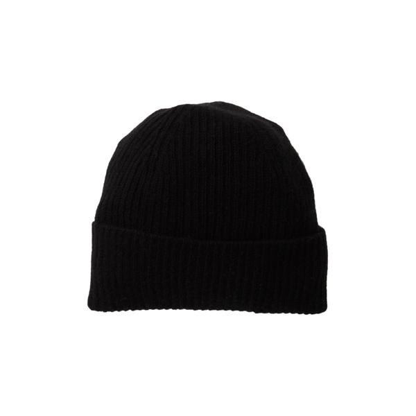 ポートラノ レディース アクセサリー [再販ご予約限定送料無料] 帽子 BLACK Hat Ribbed 全商品無料サイズ交換 激安☆超特価 Cashmere