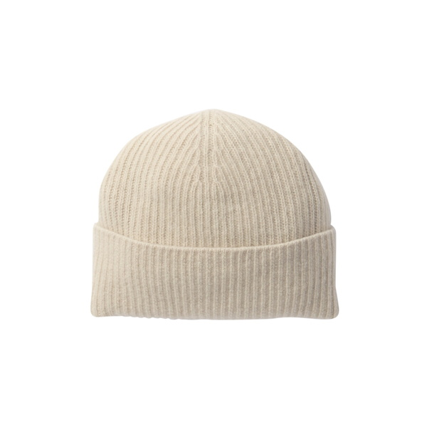 ポートラノ 2020新作 レディース アクセサリー 帽子 YOGI 全商品無料サイズ交換 Hat 奉呈 Cashmere Ribbed IVORY