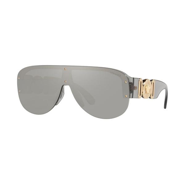ヴェルサーチ メンズ アクセサリー サングラス アイウェア 高い素材 TRANSPARENT GREY 税込 全商品無料サイズ交換 Sunglasses LIGHT SILVER VE4391 MIRROR