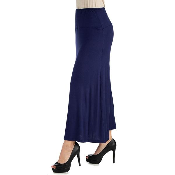 お気に入り 24セブンコンフォート レディース お得セット ボトムス スカート Navy 全商品無料サイズ交換 Women's Size Maxi Skirt Plus Waist Elastic