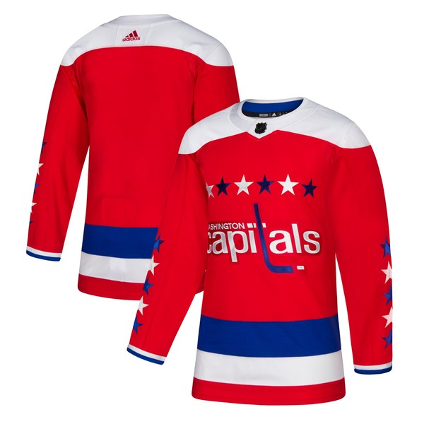 アディダス メンズ ユニフォーム トップス Washington Capitals adidas Alternate Authentic Jersey Red