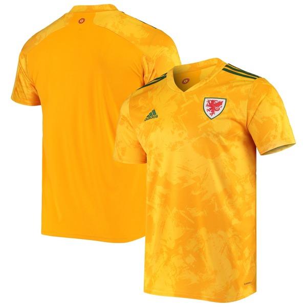 アディダス メンズ ユニフォーム トップス Wales National Team adidas 2020/21 Away Replica Jersey Yellow