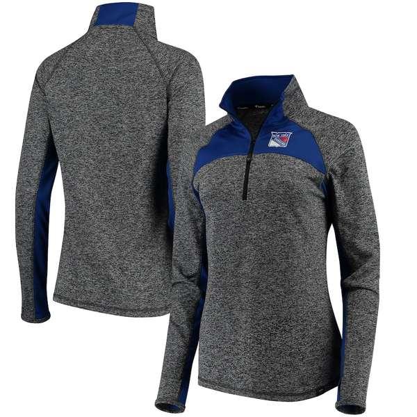 ファナティクス レディース ジャケット&ブルゾン アウター New York Rangers Fanatics Branded Women's Static Quarter-Zip Jacket Heathered Black