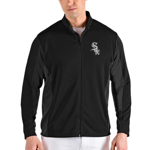アンティグア メンズ ジャケット&ブルゾン アウター Chicago White Sox Antigua Passage Full-Zip Jacket Black