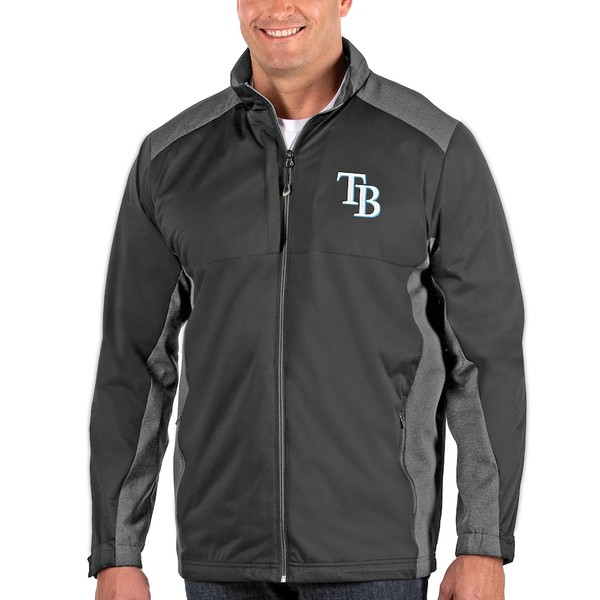 アンティグア メンズ ジャケット&ブルゾン アウター Tampa Bay Rays Antigua Revolve Big & Tall Full-Zip Jacket Charcoal