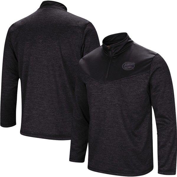 コロシアム メンズ ジャケット&ブルゾン アウター Florida Gators Colosseum Blackout Quarter-Zip Pullover Jacket Heathered Black