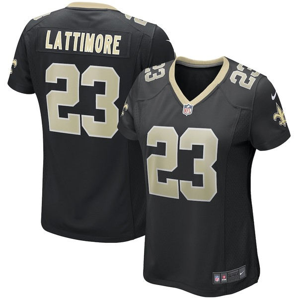 ナイキ レディース シャツ トップス Marshon Lattimore New Orleans Saints Nike Women's Game Jersey Black