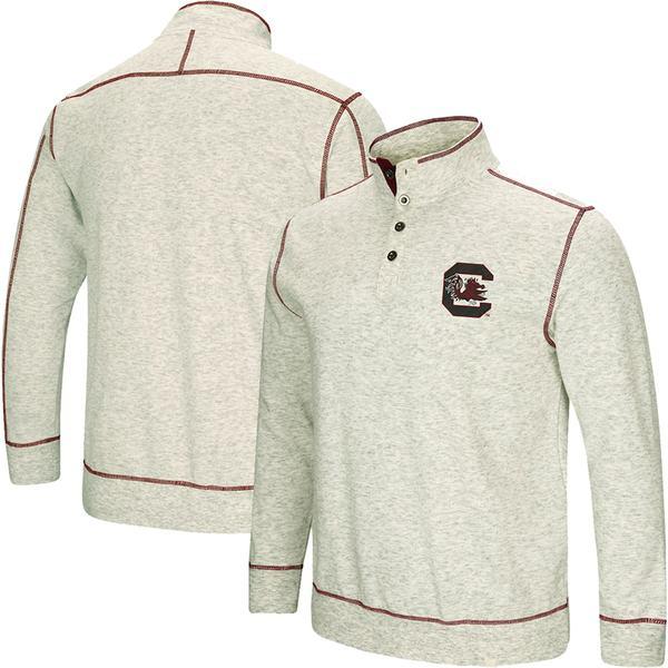 コロシアム メンズ ジャケット&ブルゾン アウター South Carolina Gamecocks Colosseum Bourbon Bowl 1/2-Button Up Jacket Heathered Gray