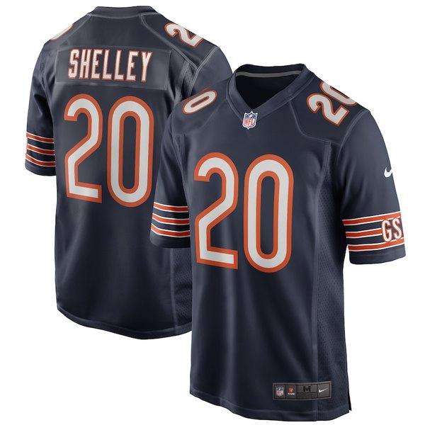 ナイキ メンズ シャツ トップス Duke Shelley Chicago Bears Nike Game Player Jersey Navy