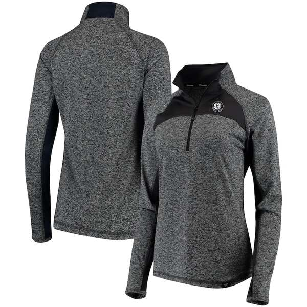 ファナティクス レディース ジャケット&ブルゾン アウター Brooklyn Nets Fanatics Branded Women's Static Quarter-Zip Pullover Jacket Heathered Gray