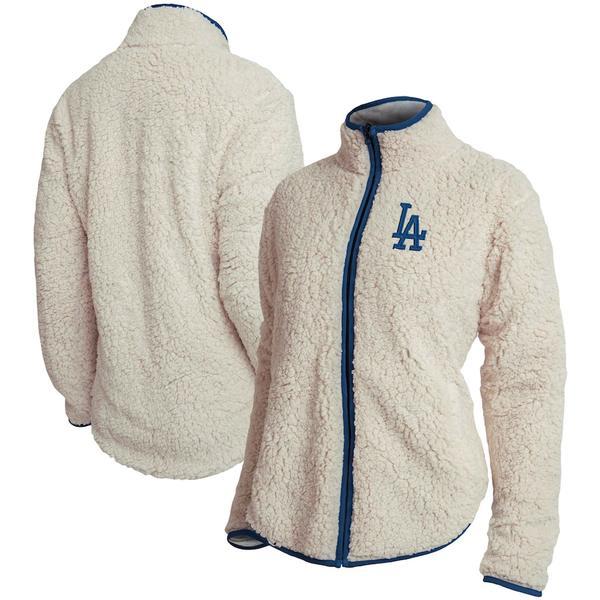 フォコ レディース ジャケット&ブルゾン アウター Los Angeles Dodgers Women's Sherpa Full-Zip Jacket White