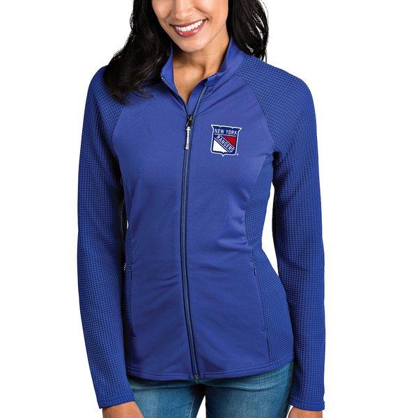 アンティグア レディース ジャケット&ブルゾン アウター New York Rangers Antigua Women's Sonar Full-Zip Jacket Blue