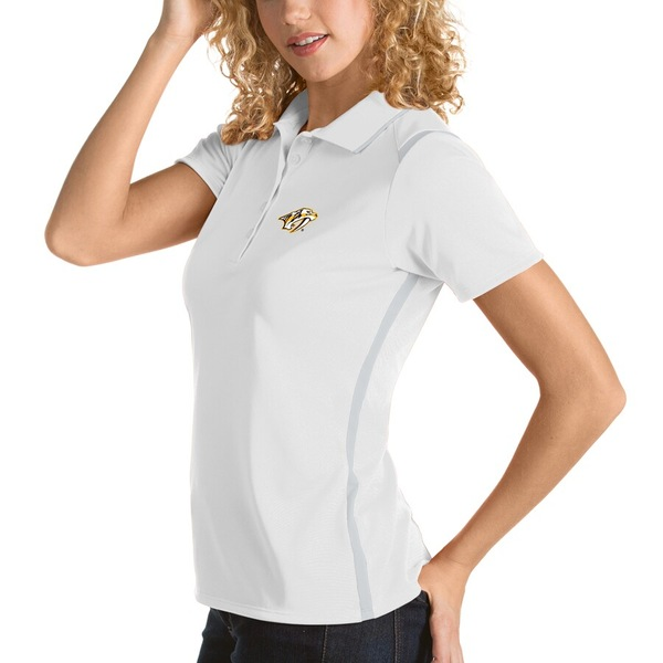 アンティグア レディース ポロシャツ トップス Nashville Predators Antigua Women's Merit Polo White