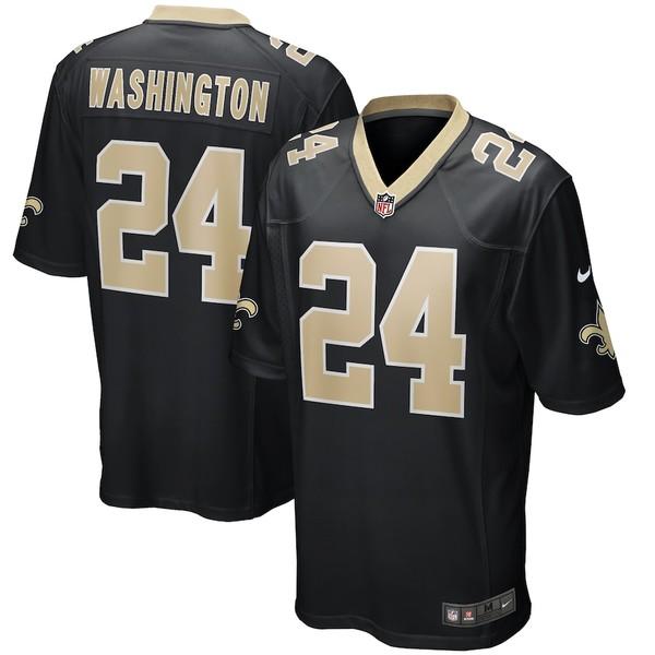 ナイキ メンズ シャツ トップス Dwayne Washington New Orleans Saints Nike Game Player Jersey Black