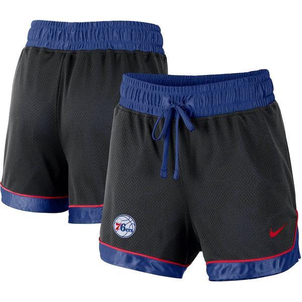 ナイキ レディース カジュアルパンツ ボトムス Philadelphia 76ers Nike Women's Mesh Knit Performance DNA Shorts Black