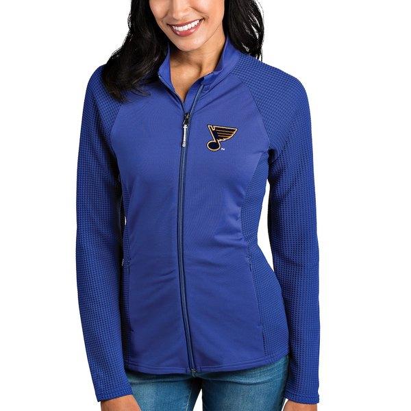 アンティグア レディース ジャケット&ブルゾン アウター St. Louis Blues Antigua Women's Sonar Full-Zip Jacket Blue