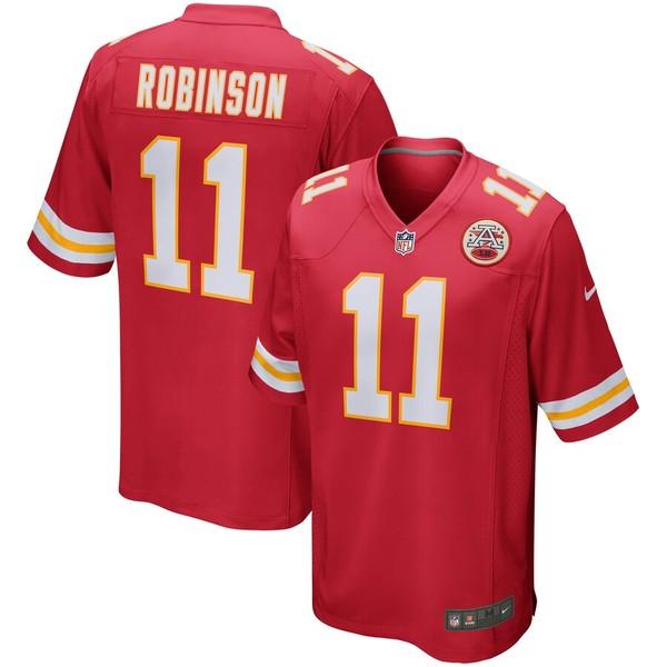 ナイキ メンズ シャツ トップス Demarcus Robinson Kansas City Chiefs Nike Game Jersey Red