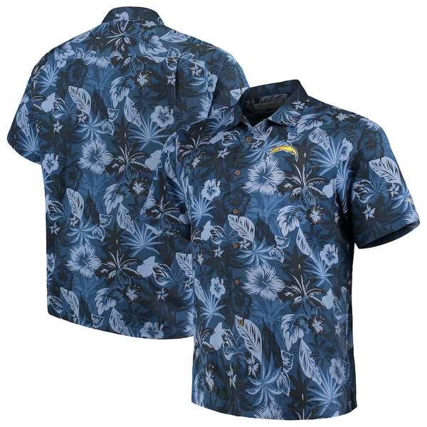 トッミーバハマ メンズ シャツ トップス Los Angeles Chargers Tommy Bahama Big & Tall Fuego Floral Button-Up Shirt Navy