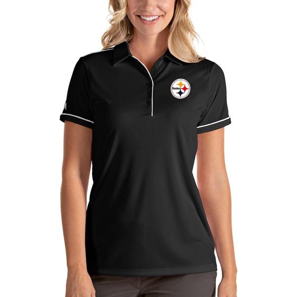 アンティグア レディース ポロシャツ トップス Pittsburgh Steelers Antigua Women's Salute Polo Black
