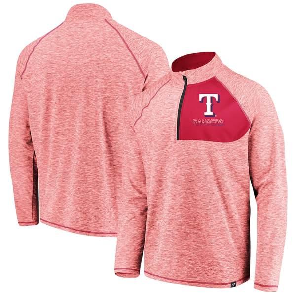 ファナティクス メンズ ジャケット&ブルゾン アウター Texas Rangers Fanatics Branded Made 2 Move Quarter-Zip Jacket Red