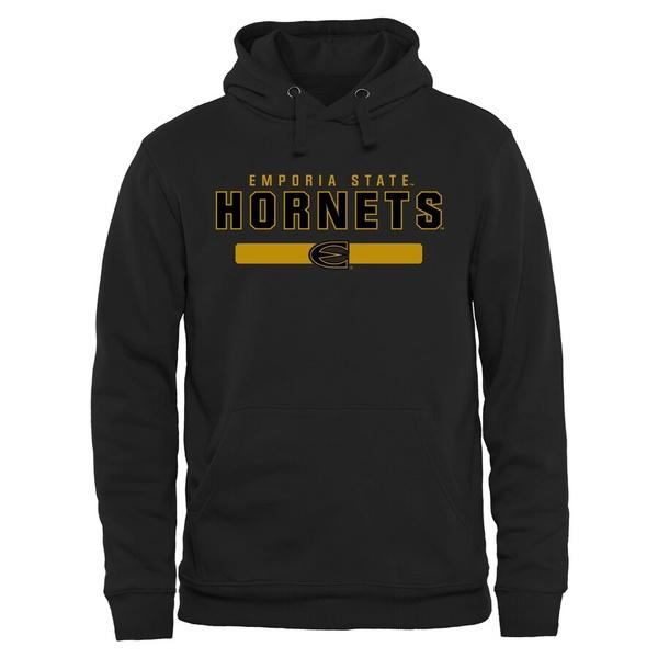 ファナティクス メンズ パーカー・スウェットシャツ アウター Emporia State Hornets Team Strong Pullover Hoodie Black