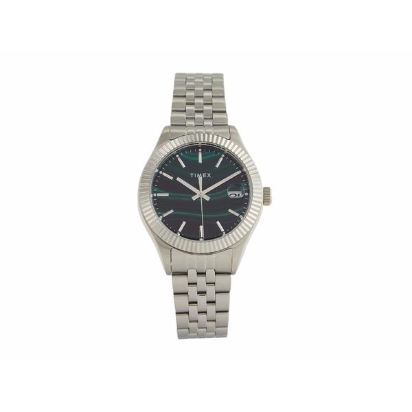 タイメックス レディース 倉庫 送料無料でお届けします アクセサリー 腕時計 Green Silver SST 34 全商品無料サイズ交換 mm Waterbury