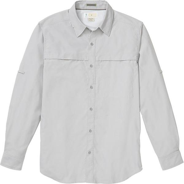 エクスオフィシオ メンズ シャツ トップス ExOfficio Men's BugsAway Gallatin LS Shirt Grey Storm