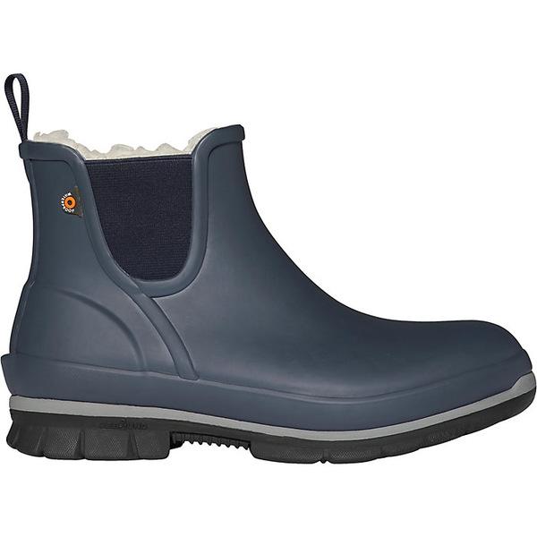 ボグス レディース ブーツ&レインブーツ シューズ Bogs Women's Amanda Plush Slip On Boot Dark Blue