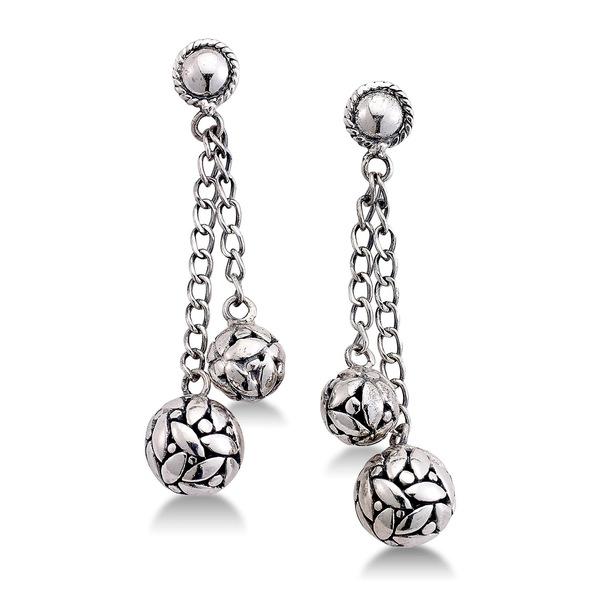 Sterling Earrings レディース SILVER ピアス&イヤリング サミュエルビージュエリー Dangle アクセサリー Silver Ball Chain
