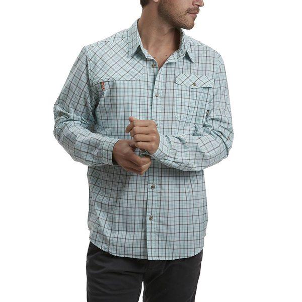 ハウラーブラザーズ メンズ シャツ トップス Matagorda Shirt - Men's Thompson Plaid Tropic Blue
